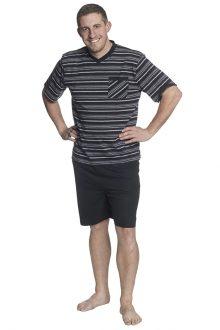 Trikåpyjams kort ärm kort ben
