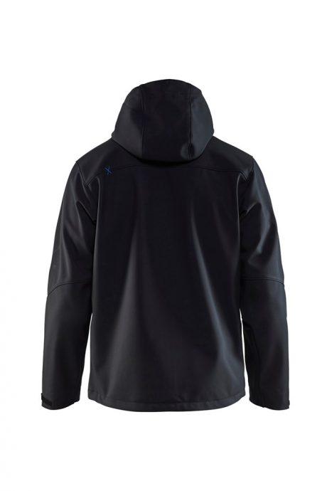 Falkenbergs Netto Heberg Mode Arbetskläder Blåkläder Jacka Softshell Blå Bak