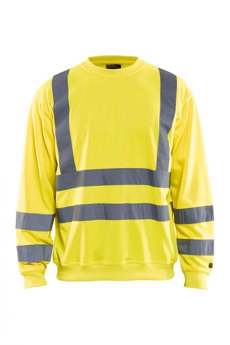 Falkenbergs Netto Heberg Mode Arbetskläder Blåkläder Varsel Sweatshirt Gul
