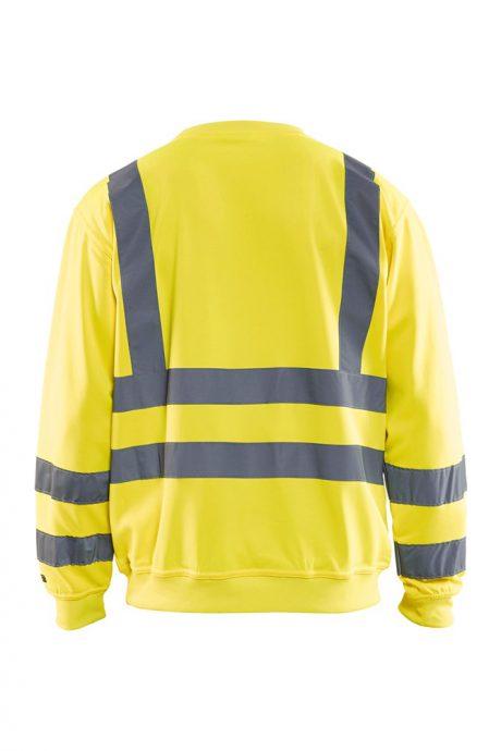 Falkenbergs Netto Heberg Mode Arbetskläder Blåkläder Varsel Sweatshirt Gul Bak
