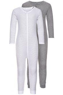 Falkenbergs Netto Heberg Mode Barn Nameit Pyjamas Grå 2pack