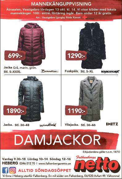 Damjackor Falkenberg Vinter 2018